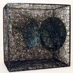 Chiharu Shiota Trauma  Alltag Two Round Mirrors 2007 Steel frame wool thread mirrors courtesy gallery mimmo scognamiglio